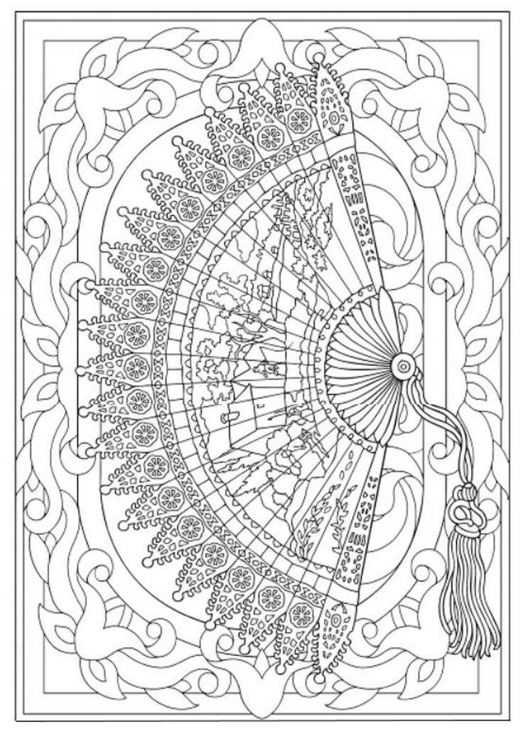 736x1033 Hand Fan Coloring Pages Goat Coloring Pages