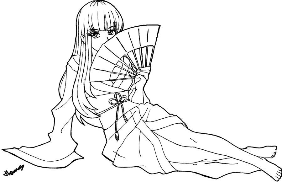 900x580 Hand Fan Girl By Tomalbert