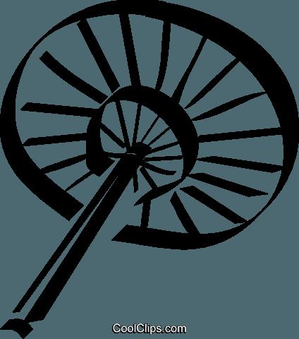 424x480 Japanese Hand Fan Royalty Free Vector Clip Art Illustration