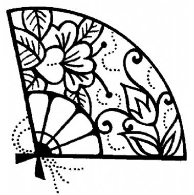 379x380 Personal Impressions Oriental Fan Rubber Stamp =) Oriental Fans