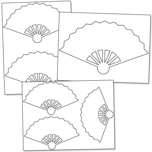 500x500 Printable Hand Fan Template From Shapes