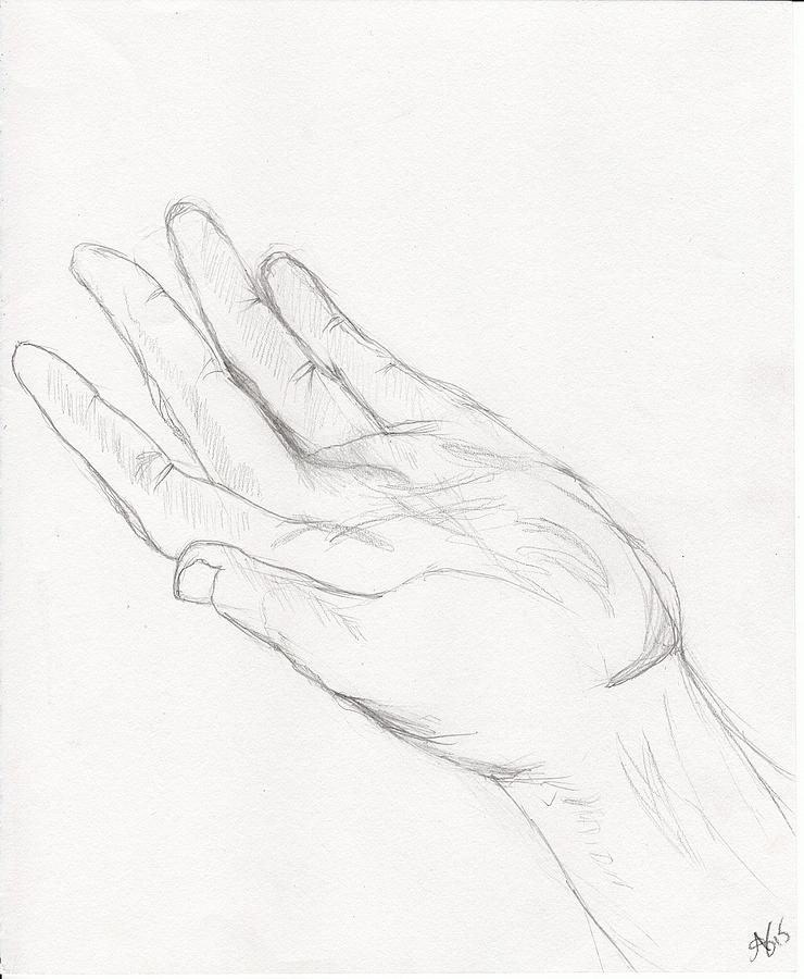 740x900 Me Your Hand Drawing By Allison Stafford