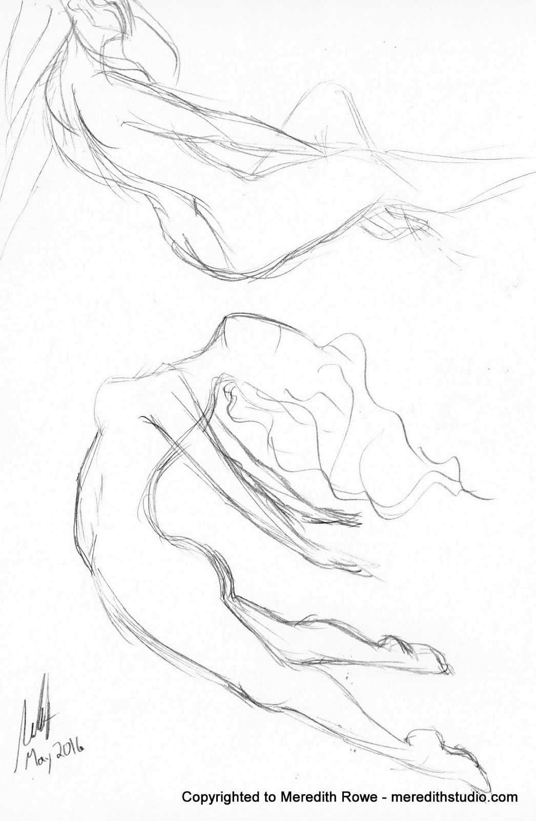 1046x1600 Meredith Studio Sketch Diary Curved Figure Practice