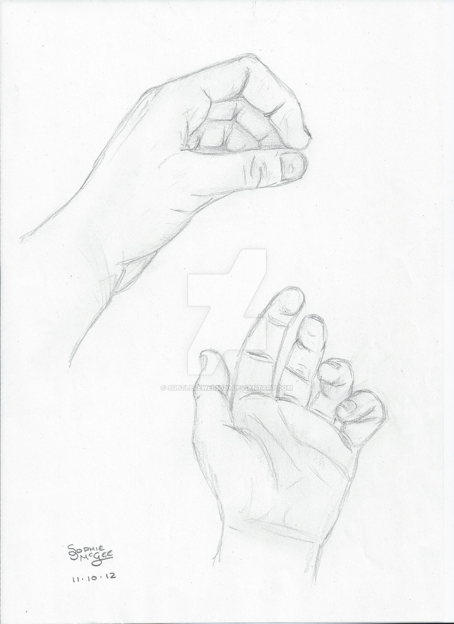 900x1238 Two Left Hand Drawing By Subtlejewel3020