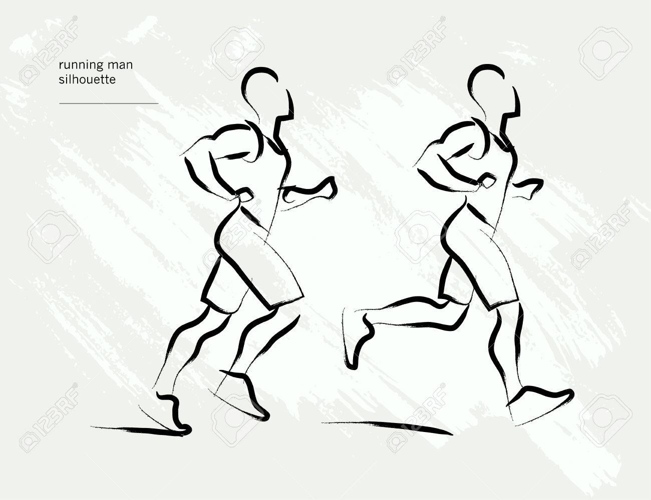 1300x1000 Vector Hand Drawn Active People Sketch Isolated On White