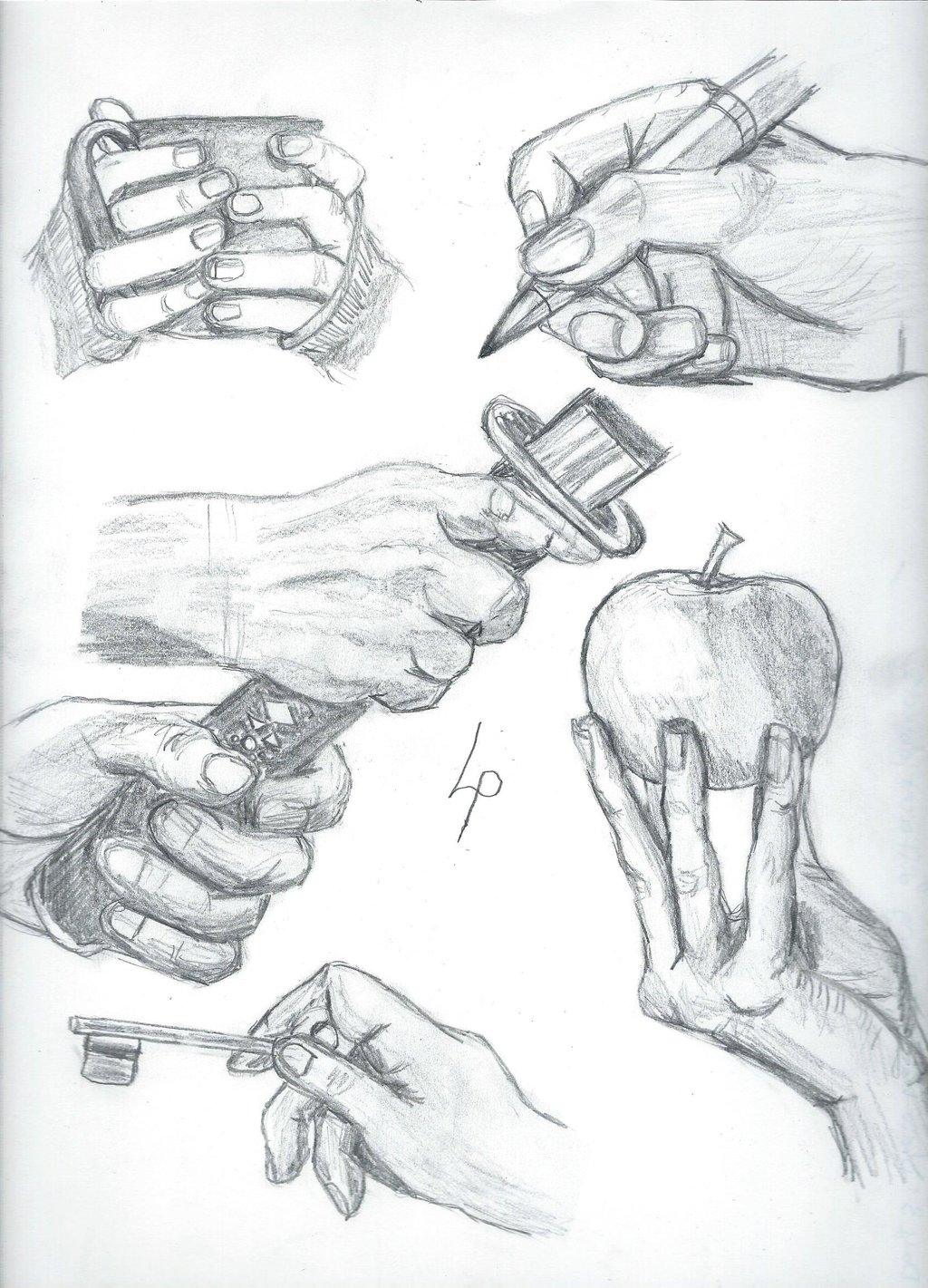 1024x1421 Drawing Hands Challenge Day 3