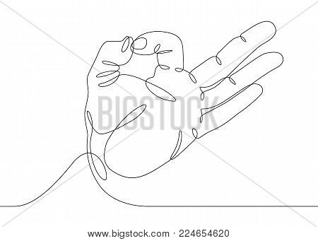 450x341 Continuous One Line Drawing Hand Vector Amp Photo Bigstock