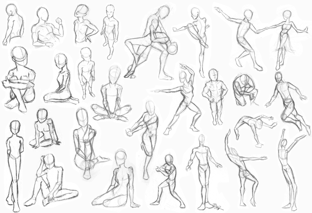 1024x700 Gesture Drawing By Jedipanda22
