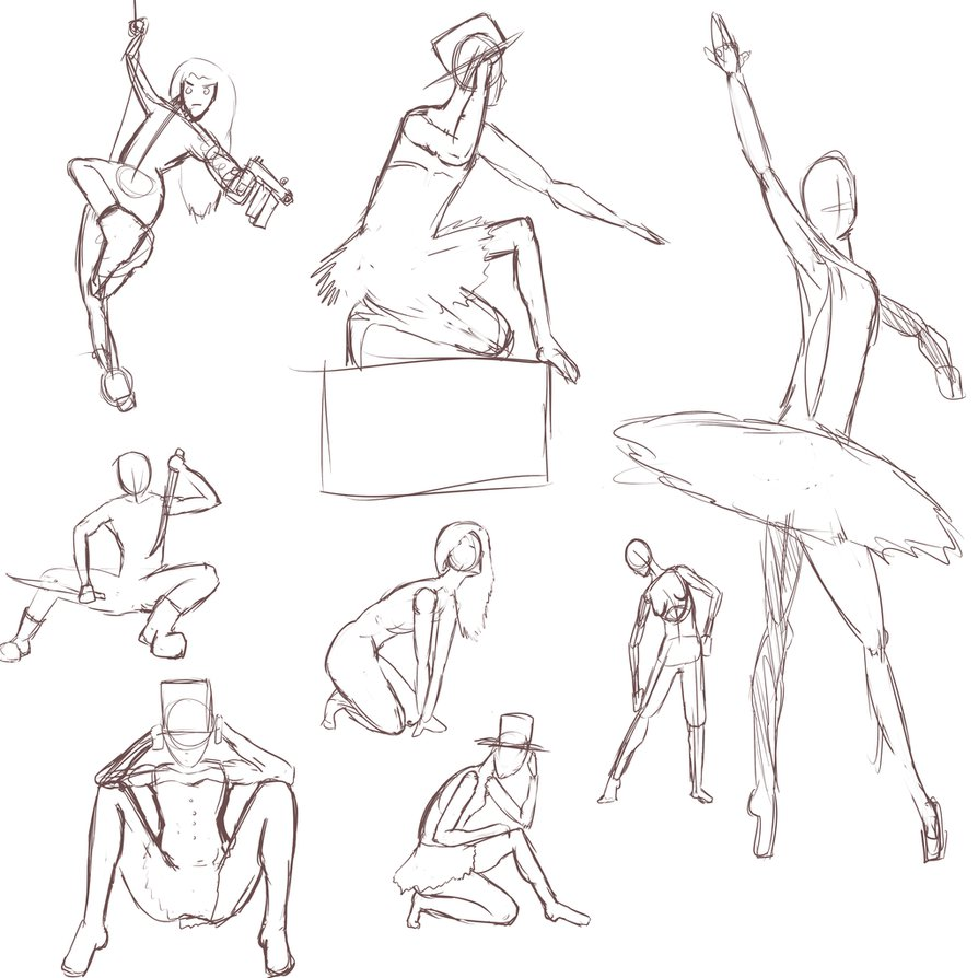 894x894 Gesture Drawing Practice 5 Min Ea By Little Yuri Kun
