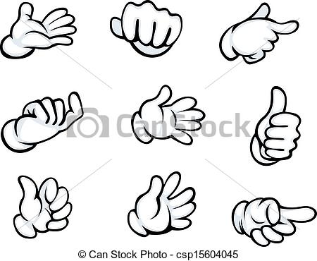 450x370 Set Of Hand Gestures Drawing Clipart Panda