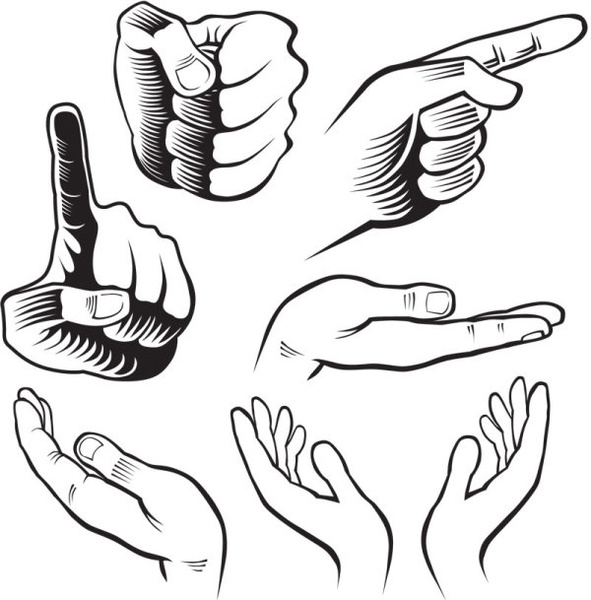 591x600 Vector Hand Stop Gesture Free Vector Download (4,786 Free Vector