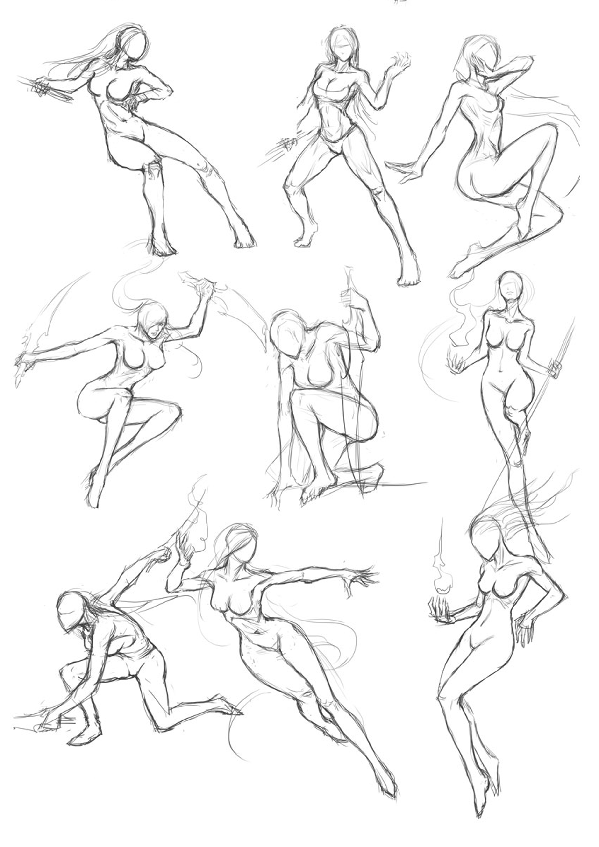 2480x3508 Martial Arts Posture Ref Martial, Drawings