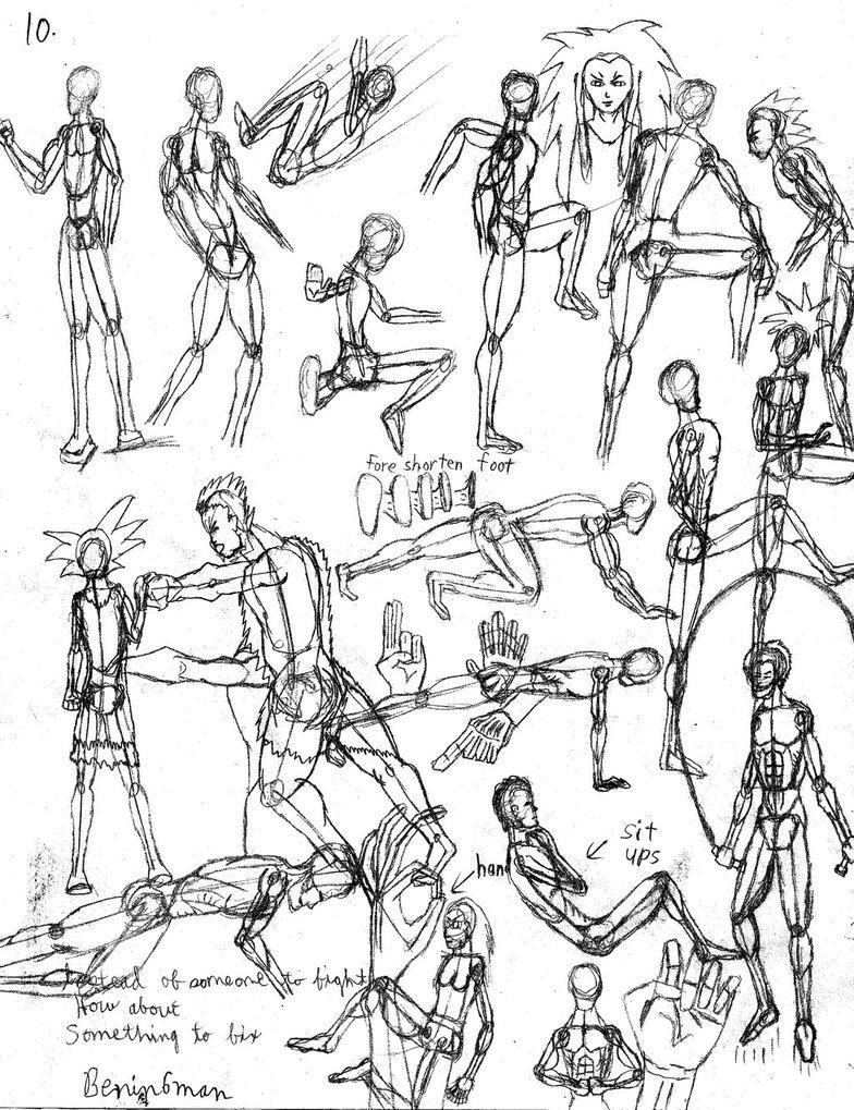 784x1019 Gesture Drawing Practice 10 By Benin6man