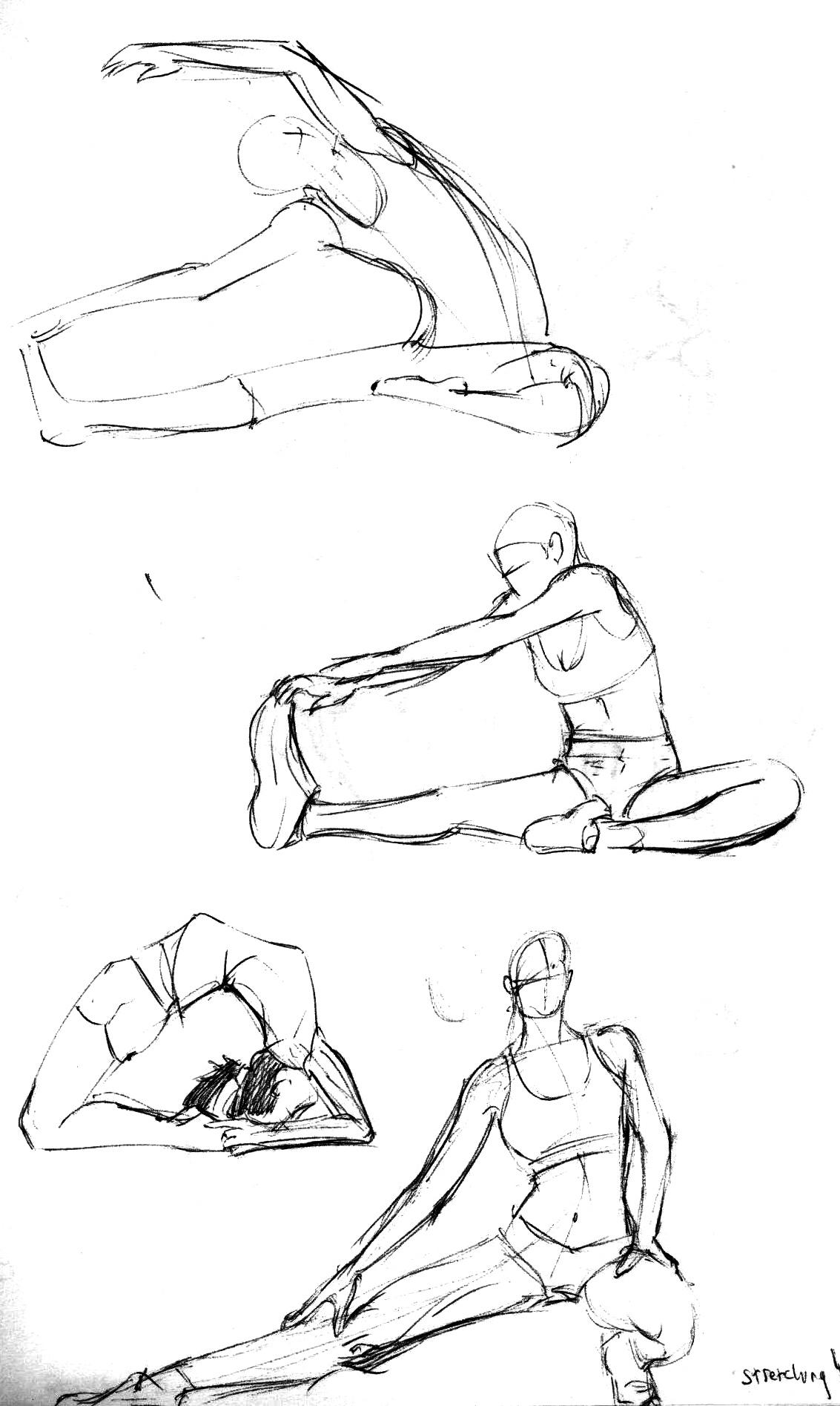 1133x1894 Animation Iii Gesture Drawings Week 4 Stretching Torin Murphy