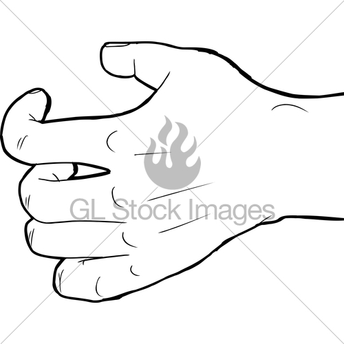 500x500 Outlined Grabbing Hand Gl Stock Images