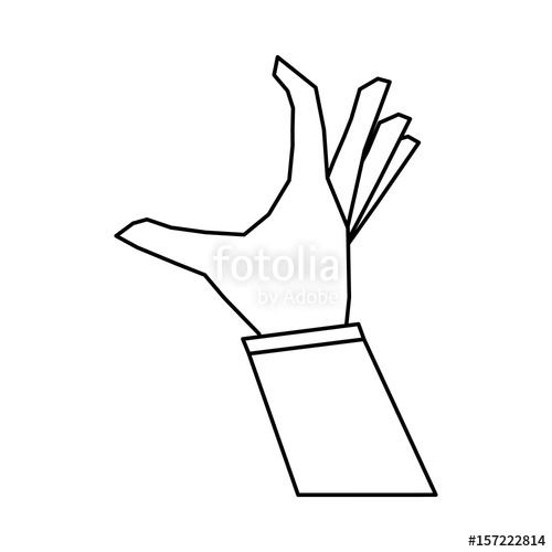 500x500 Hand Doing Grabbing Gesture Icon Image Vector Illustration Design
