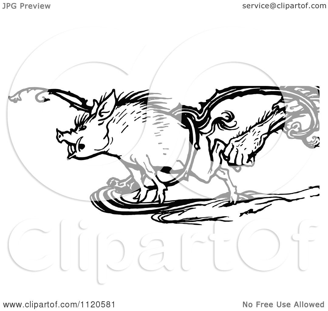 1080x1024 Clipart Of A Retro Vintage Black And White Hand Grabbing A Boar