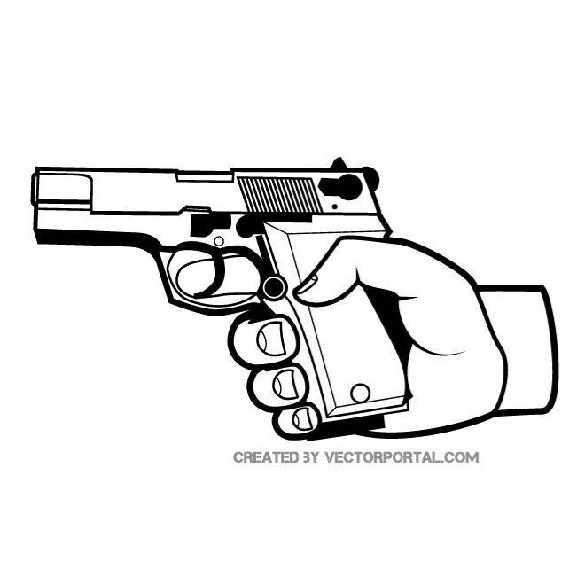 660x660 Gun In A Hand