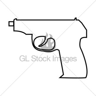 325x325 Hand Gun Icon Gl Stock Images