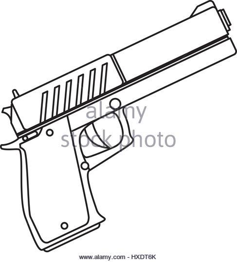 487x540 Handgun Black And White Stock Photos Amp Images