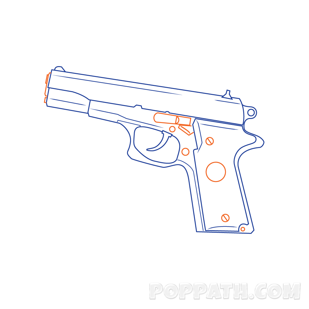 Hand Gun Drawing At Getdrawings
