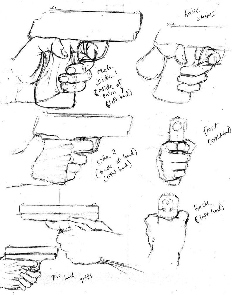 795x1005 How To Draw A Handgun Grip By Shinsengumi77 On Andrew