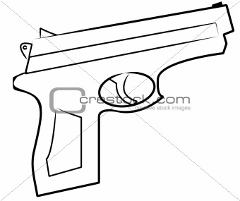 340x285 Image 912615 Outline Of Hand Gun From Crestock Stock Photos