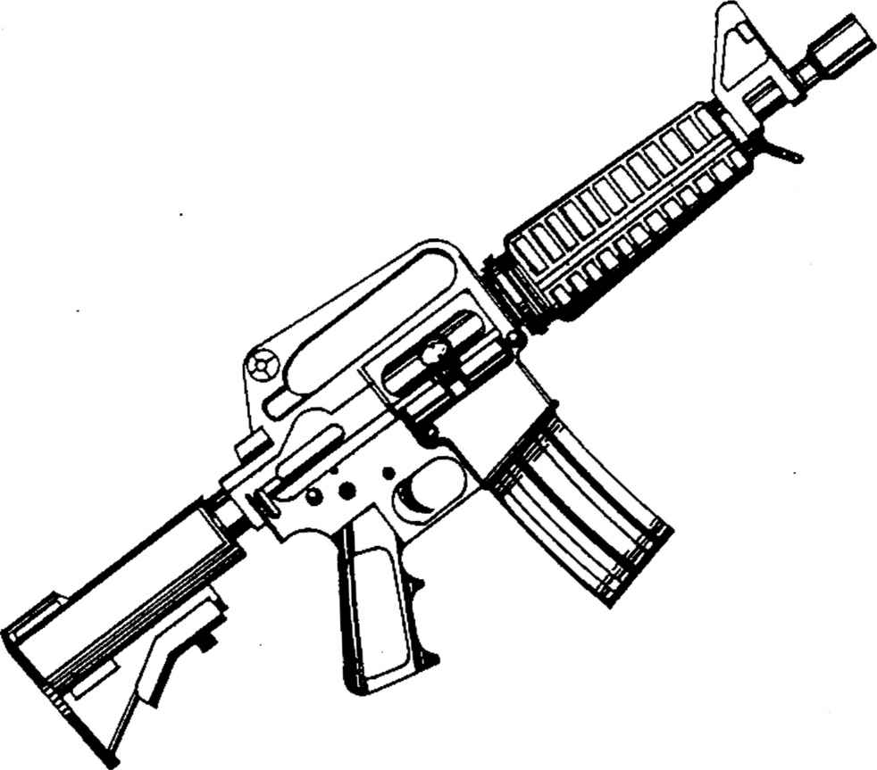 982x863 Ar 15 Coloring Page M16 Gun Colouring Pages