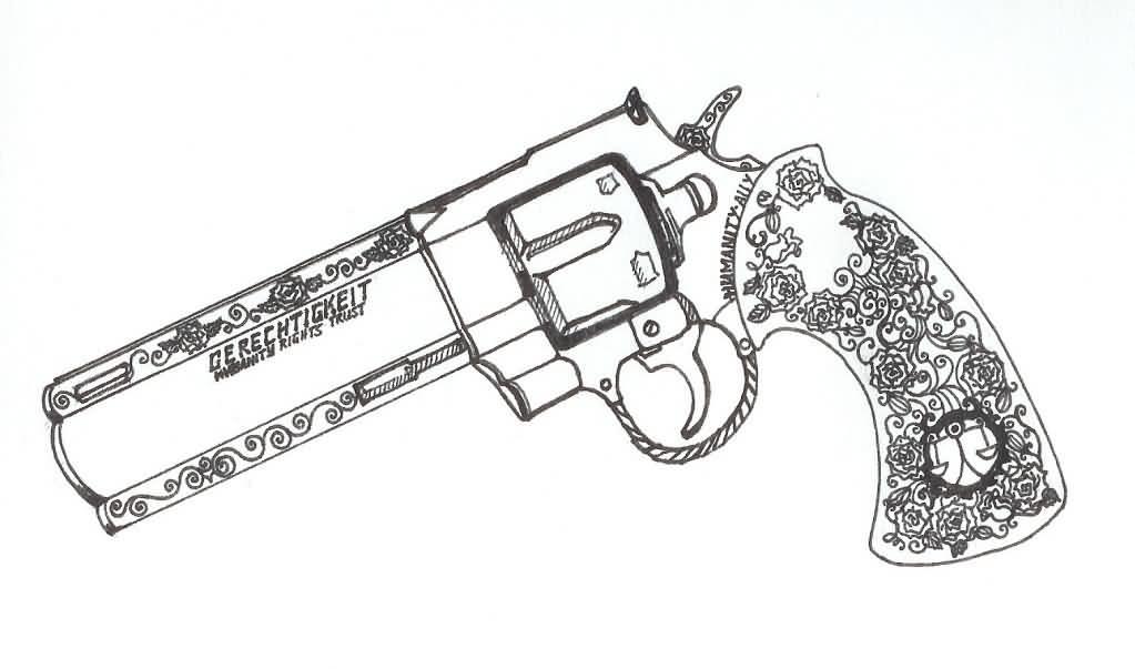 1023x603 Collection Of 9mm Gun Tattoo Design