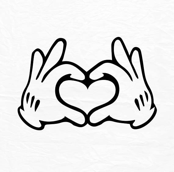 570x564 Glove Mouse Hand Heart Love Design Love Svg Disney Heart