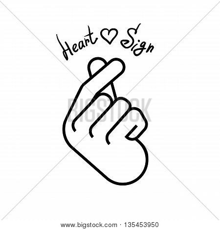 450x470 Korean Symbol Hand Heart Message Vector Amp Photo Bigstock