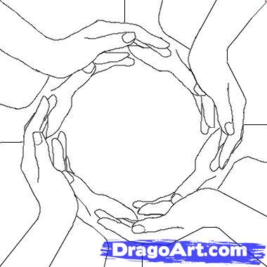 380x380 How To Draw Hand Heart