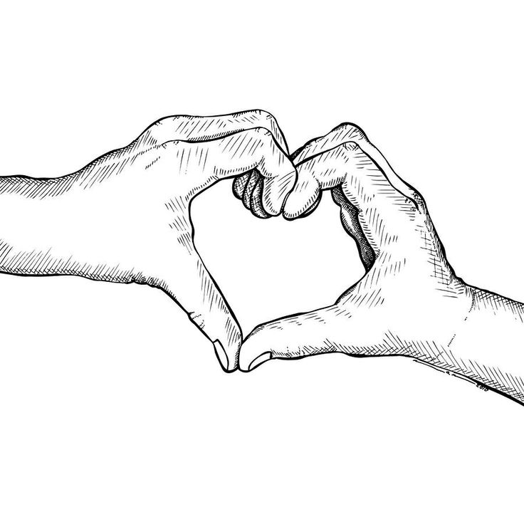 736x736 Drawn Pencil Heart In Hand