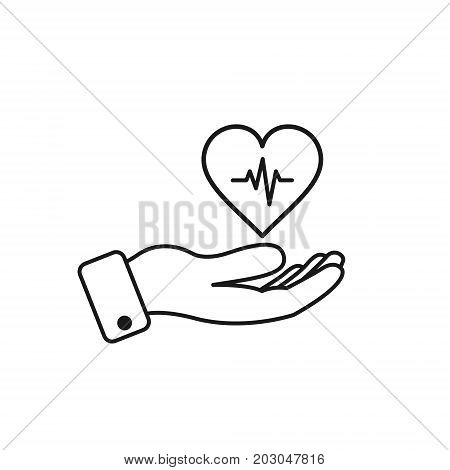 450x470 Hand Holding Heart Beat. Vector Vector Amp Photo Bigstock