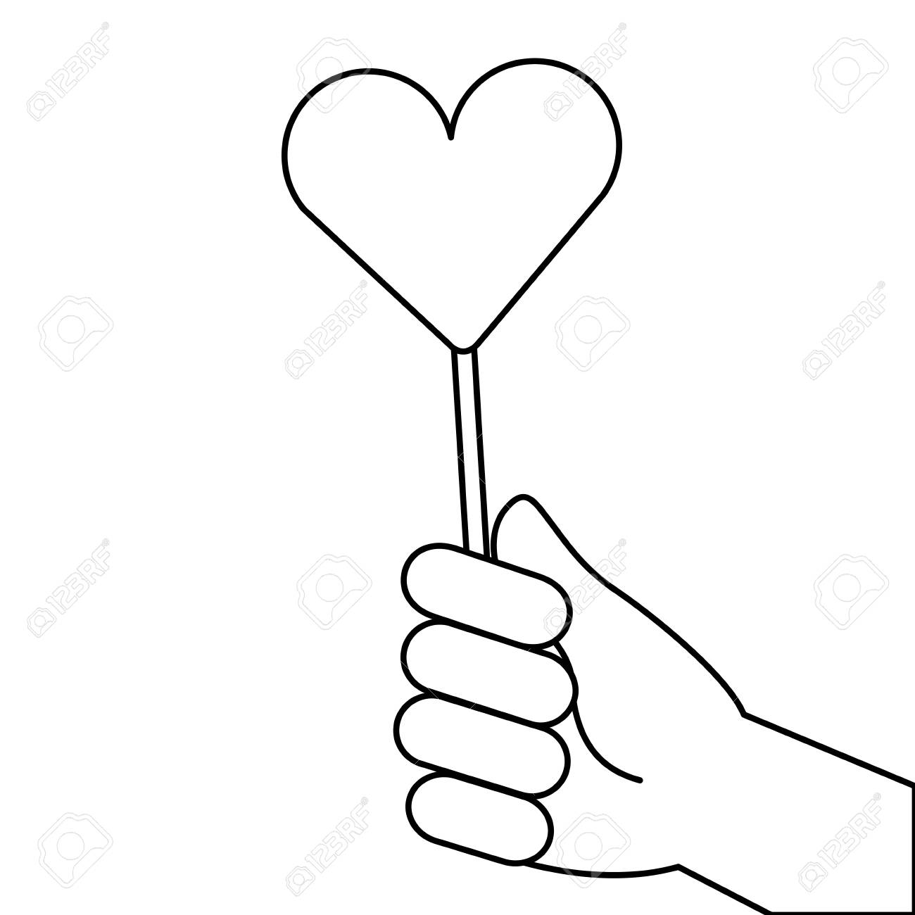 1300x1300 Hand Holding Lollipop Royalty Free Cliparts, Vectors, And Stock