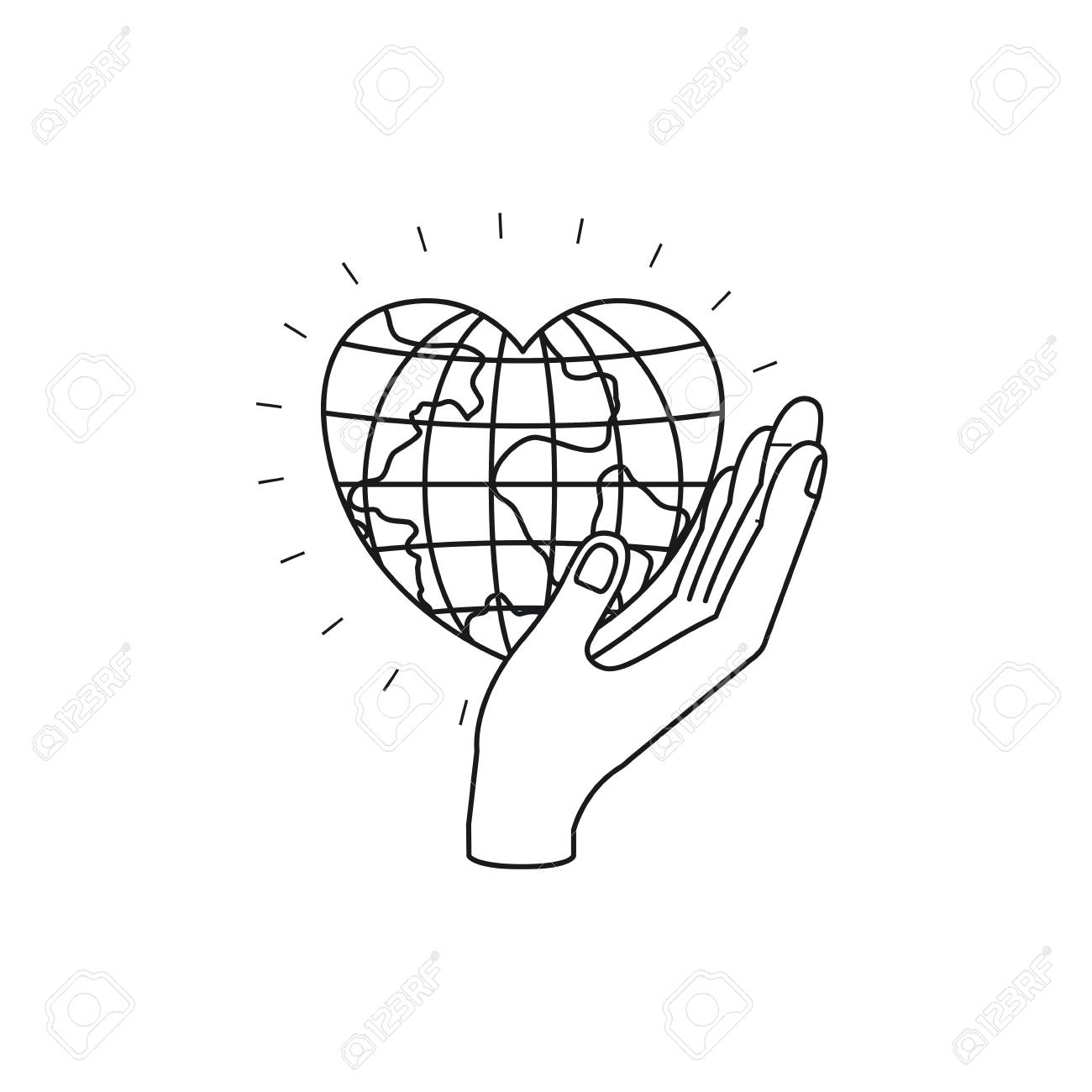 1300x1300 Silhouette Side View Of Hand Holding In Palm A Earth Globe World