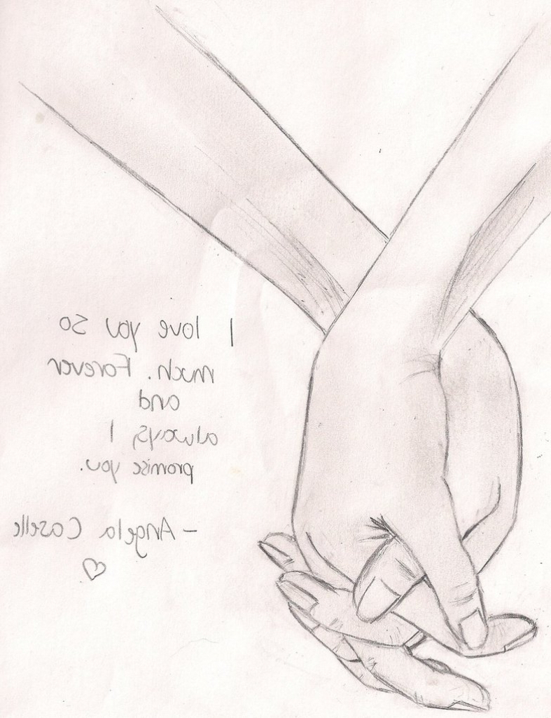 787x1024 Pencil Drawings Of People Holding Hands Drawing Of Couple Holding