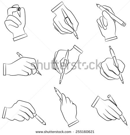 hand holding a pencil drawing at getdrawings free download
