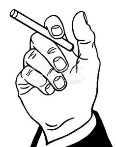 236x299 Hand Holding A Cigarette Vinyl Sticker. Customize On Line. Hands