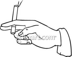 300x240 Hand Holding Cigarette Clipart