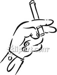 228x300 Hand Holding A Cigarette Royalty Free Clipart Picture