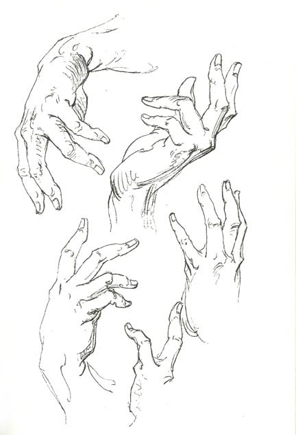432x634 Left Hand Holding Cigarette Drawing