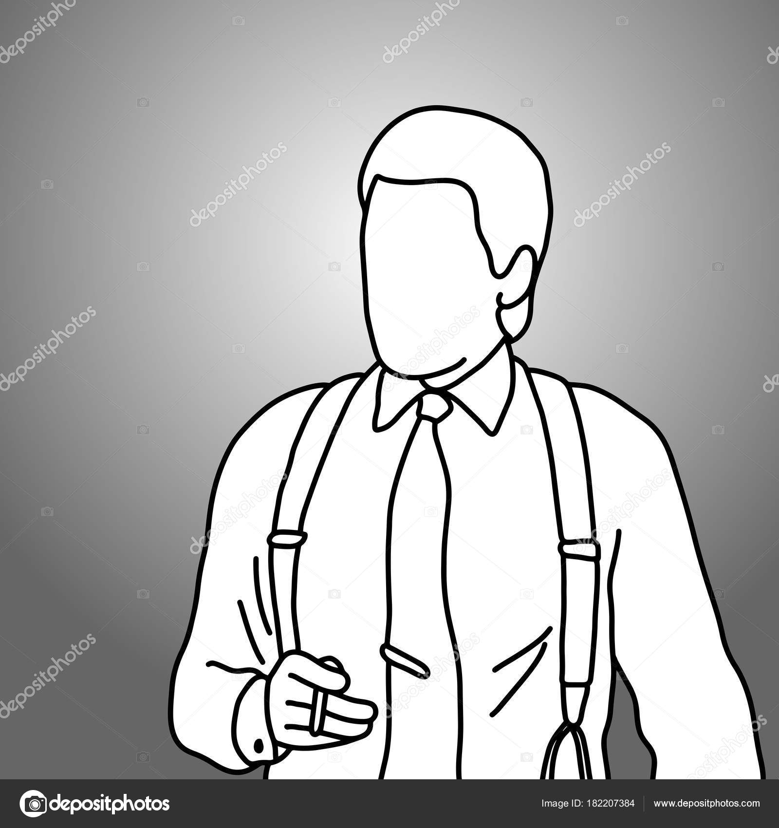 1600x1700 Businessman Holding Cigarette On His Right Hand Vector