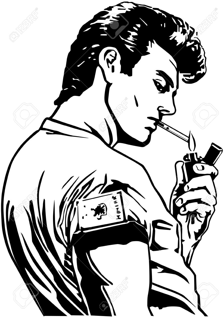 917x1300 Drawn Cigarette Guy Smoking