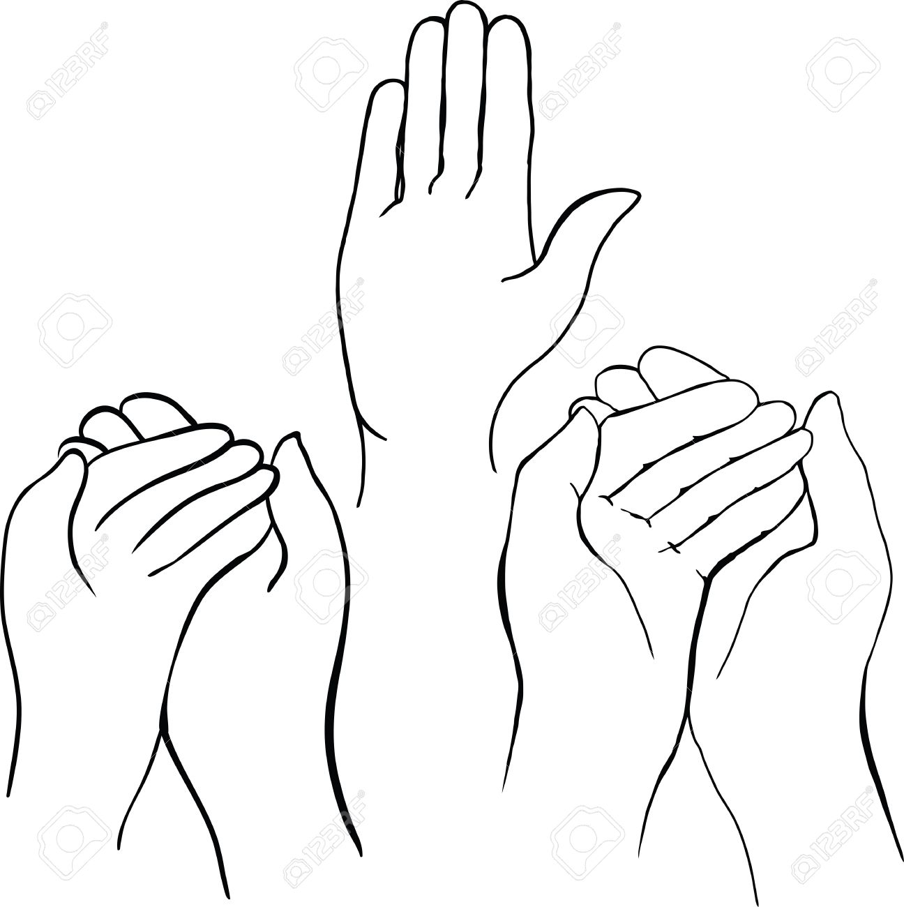 1296x1300 Drawing Of Hands Holding Something Royalty Free Cliparts, Vectors