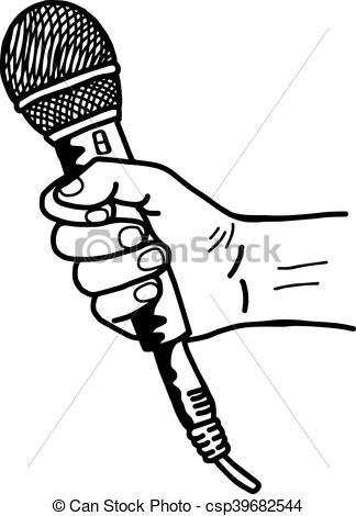 324x470 Drawn Microphone Hand Drawing