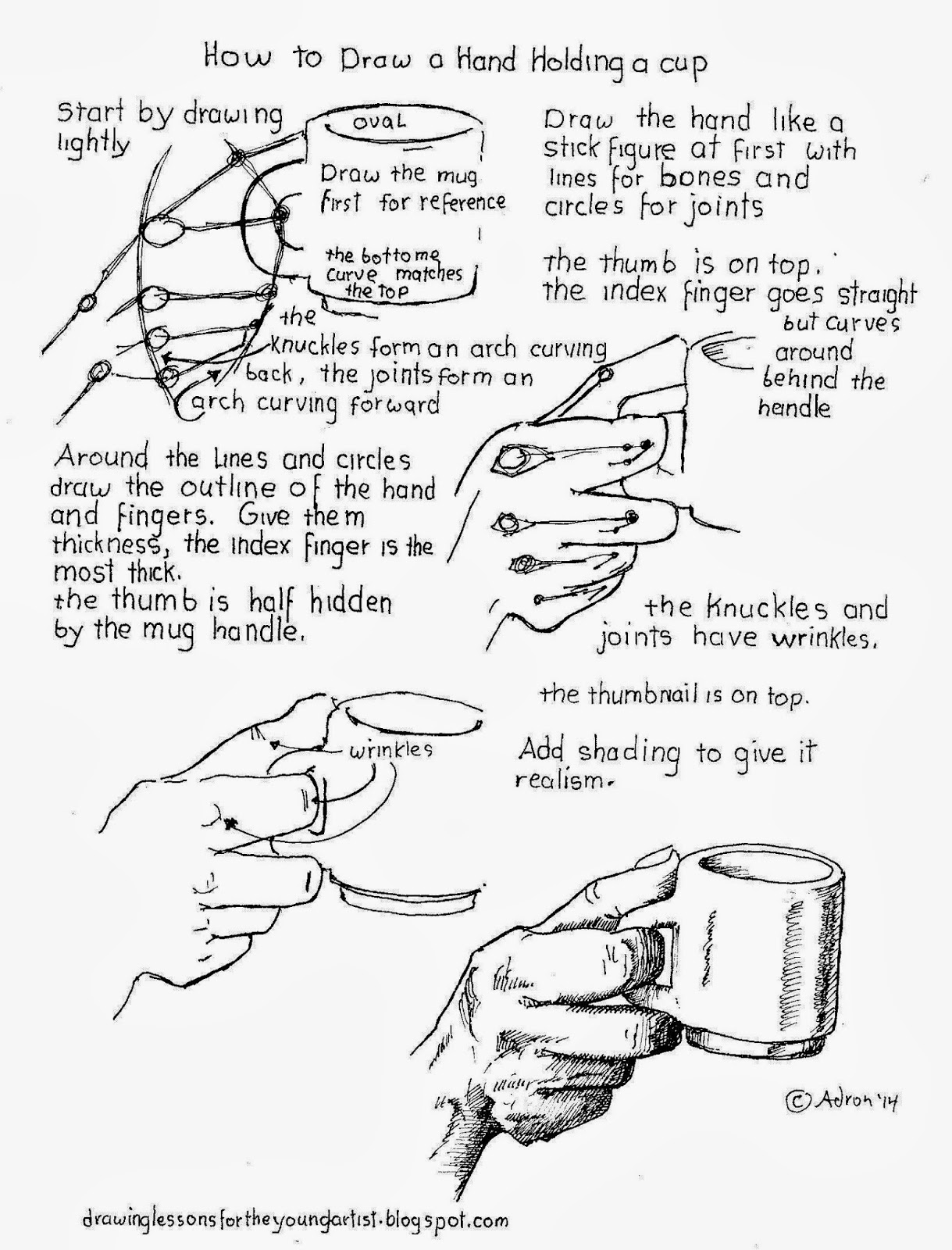 1219x1600 How To Draw Worksheets For The Young Artist How To Draw A Hand