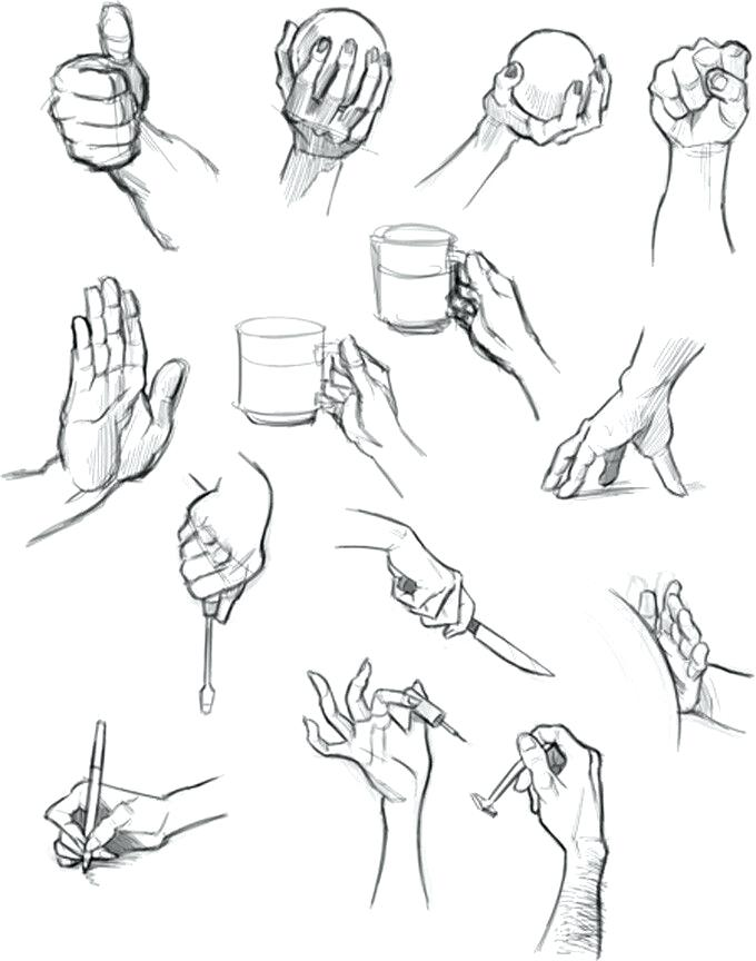680x864 Draw Holding Hands Hand Drawings By How To Draw Cartoon Hands