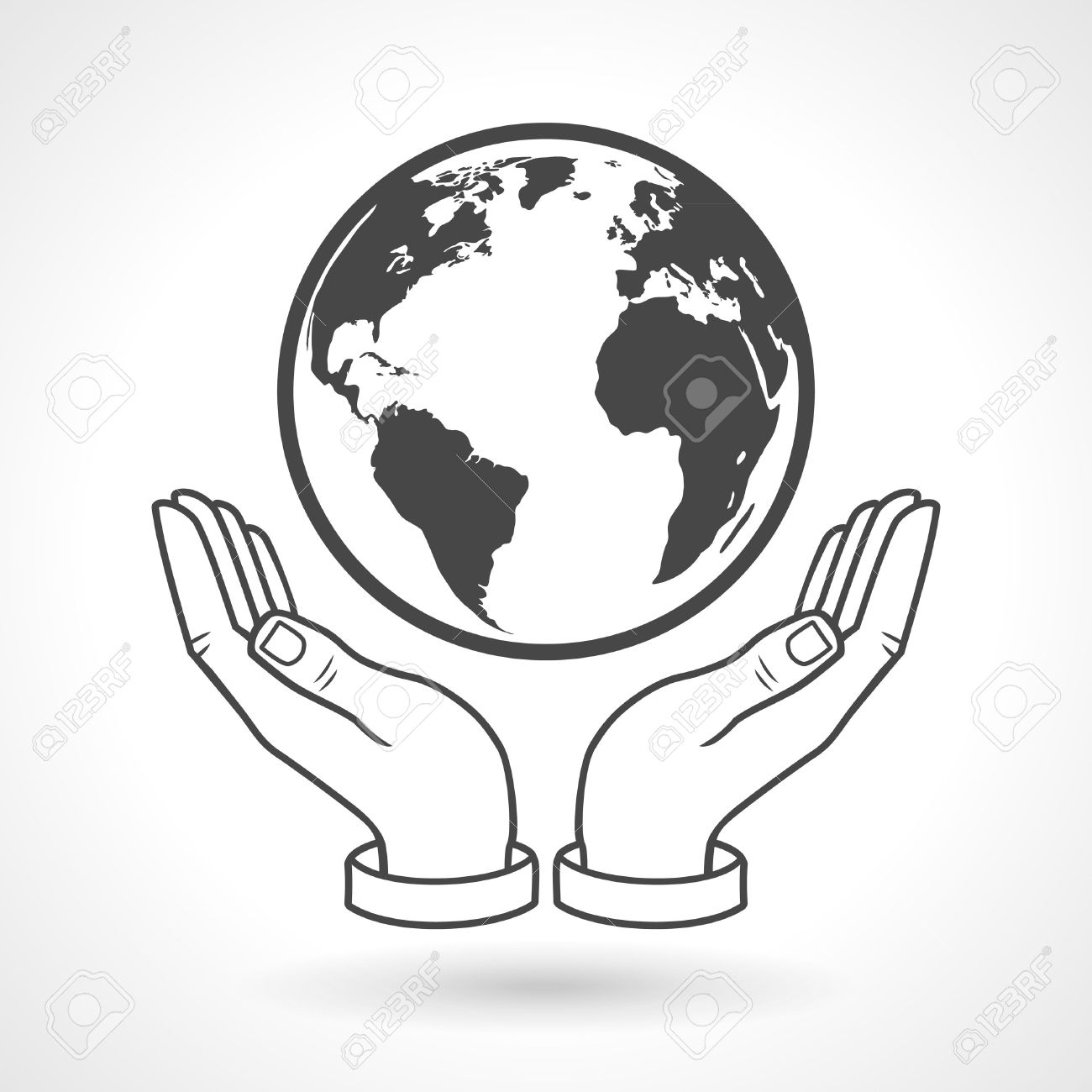 1300x1300 Hands Holding Earth Globe Symbol Royalty Free Cliparts, Vectors
