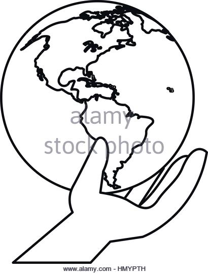 410x540 Line Drawing Hands Holding Earth Stock Photos Amp Line Drawing Hands